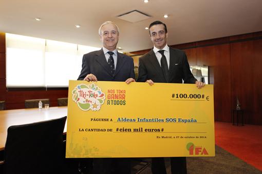 Juan Manuel Morales, Director general de IFA y Presidente de Aldeas Infantiles SOS España, Pedro J. Puig Pérez