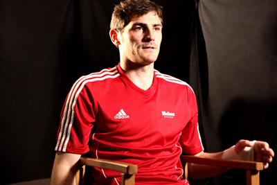 Iker Casillas durante el rodaje del Spot para Mahou