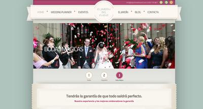 Página web. El Jardín del Event