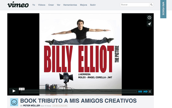 Book Tributo en Vimeo