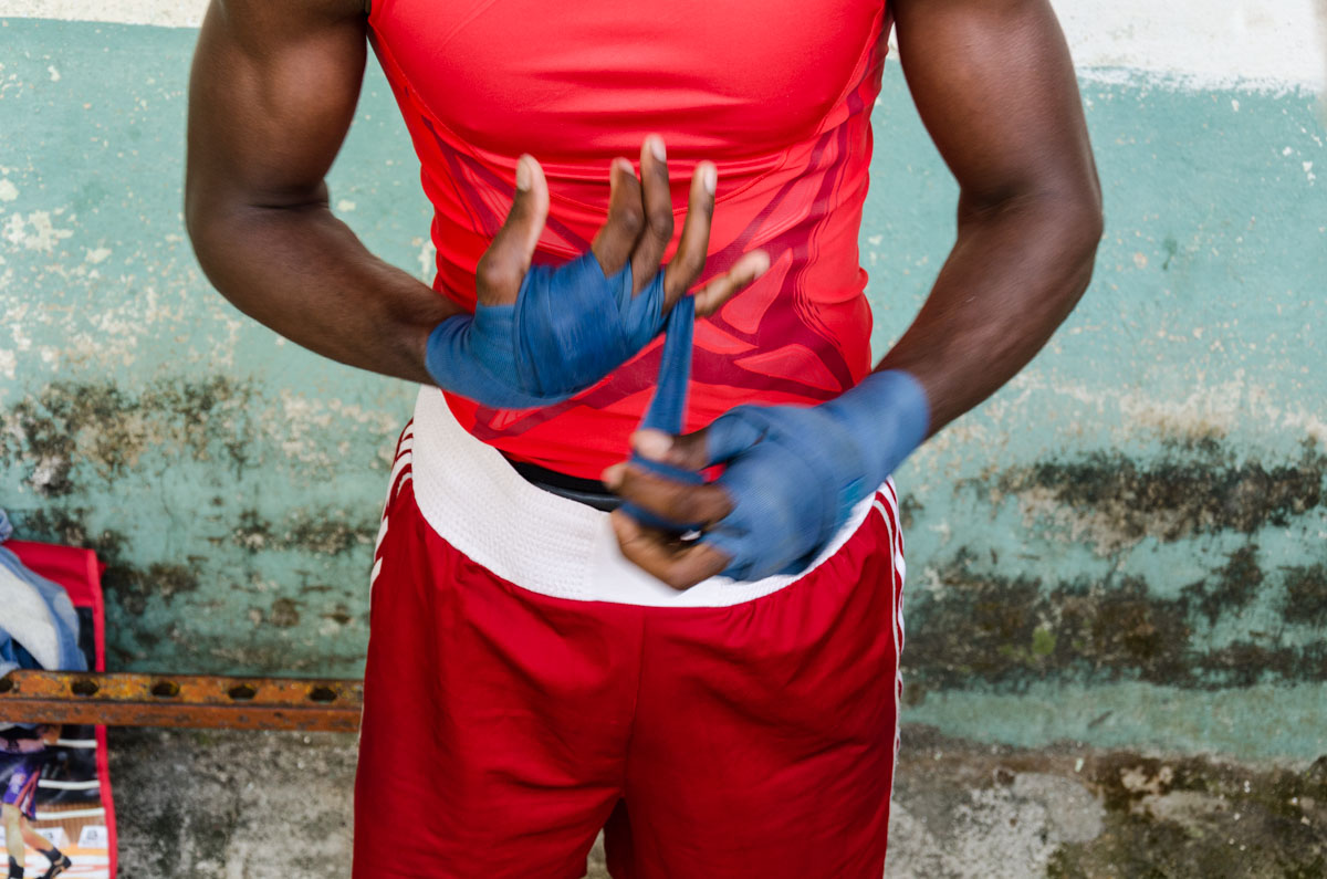cuban boxer in action , photo take in my guided photo tours around cuba