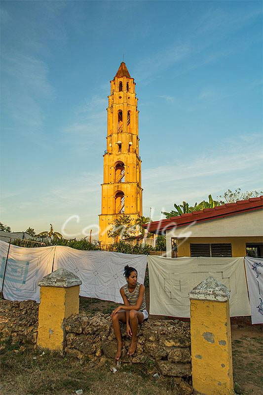 Manaca iznaga tower in trinidad cuba with warm sunlight in my photo tour to central cuba