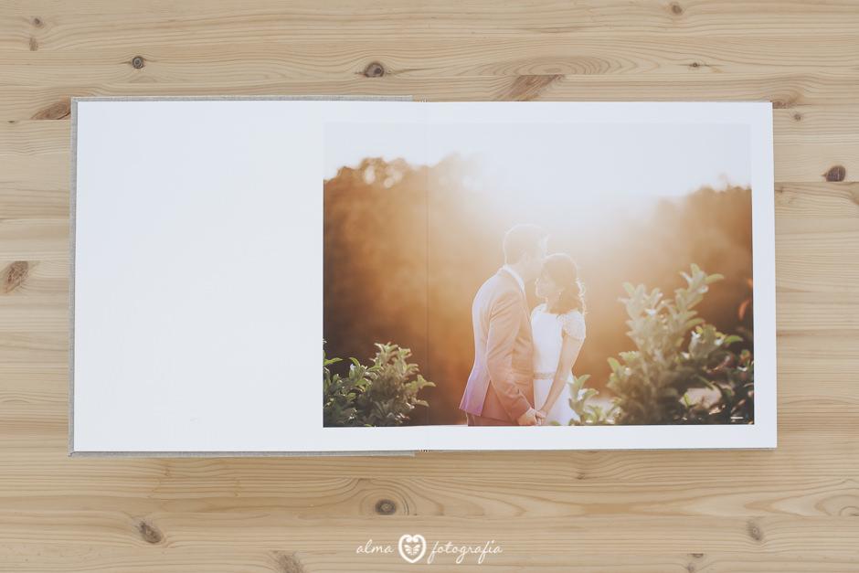 Alma Fotografia Madrid Album de boda abierto