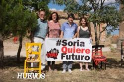 Ana Sánchez con representantes de Soria Ya