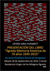 Cartel anunciador de la presentación