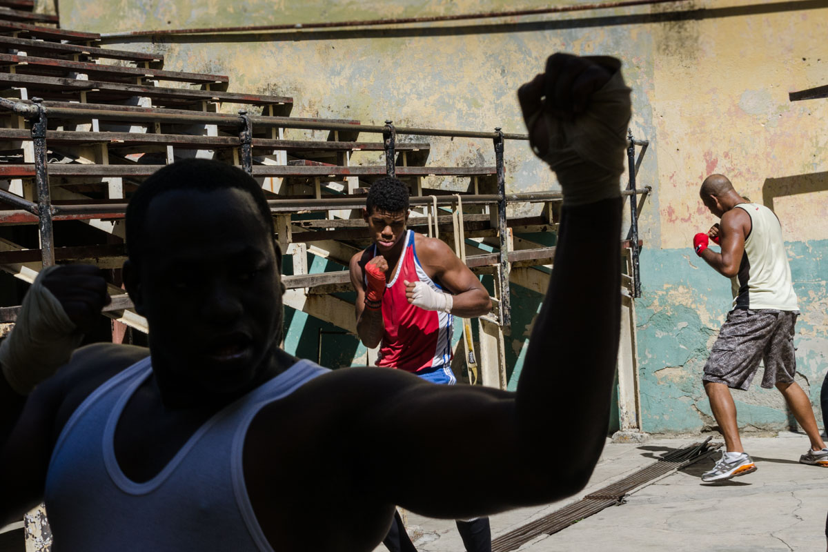 boxers training in Havana , photo by louis alarcon