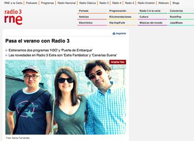 Fotos de Naroa Fernández en Radio 3