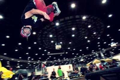 Un momento de la competición de patines