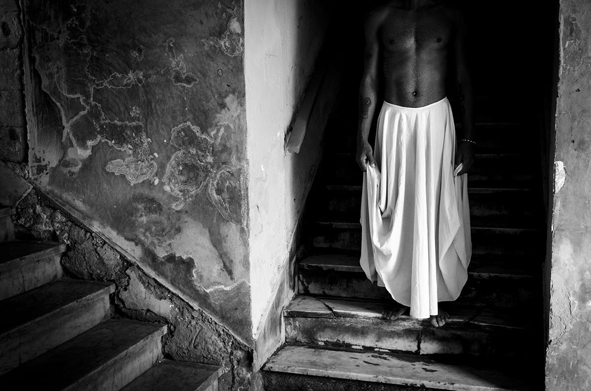 cuban dancer with skirt , conceptual cuban photography