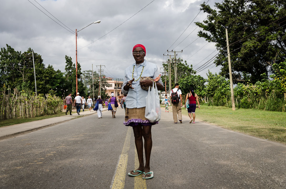 pilgrim in saint lazarus event in Cuba in my photography tour to cuba