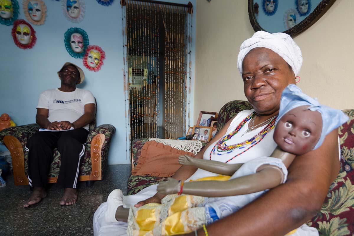 religious afrocuban family in havana photo taken in my photo tour in cuba