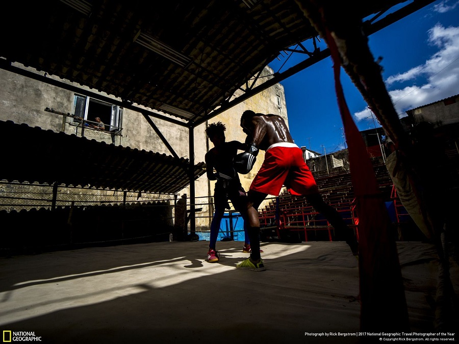 boxers in havana in my photography workshops in cuba