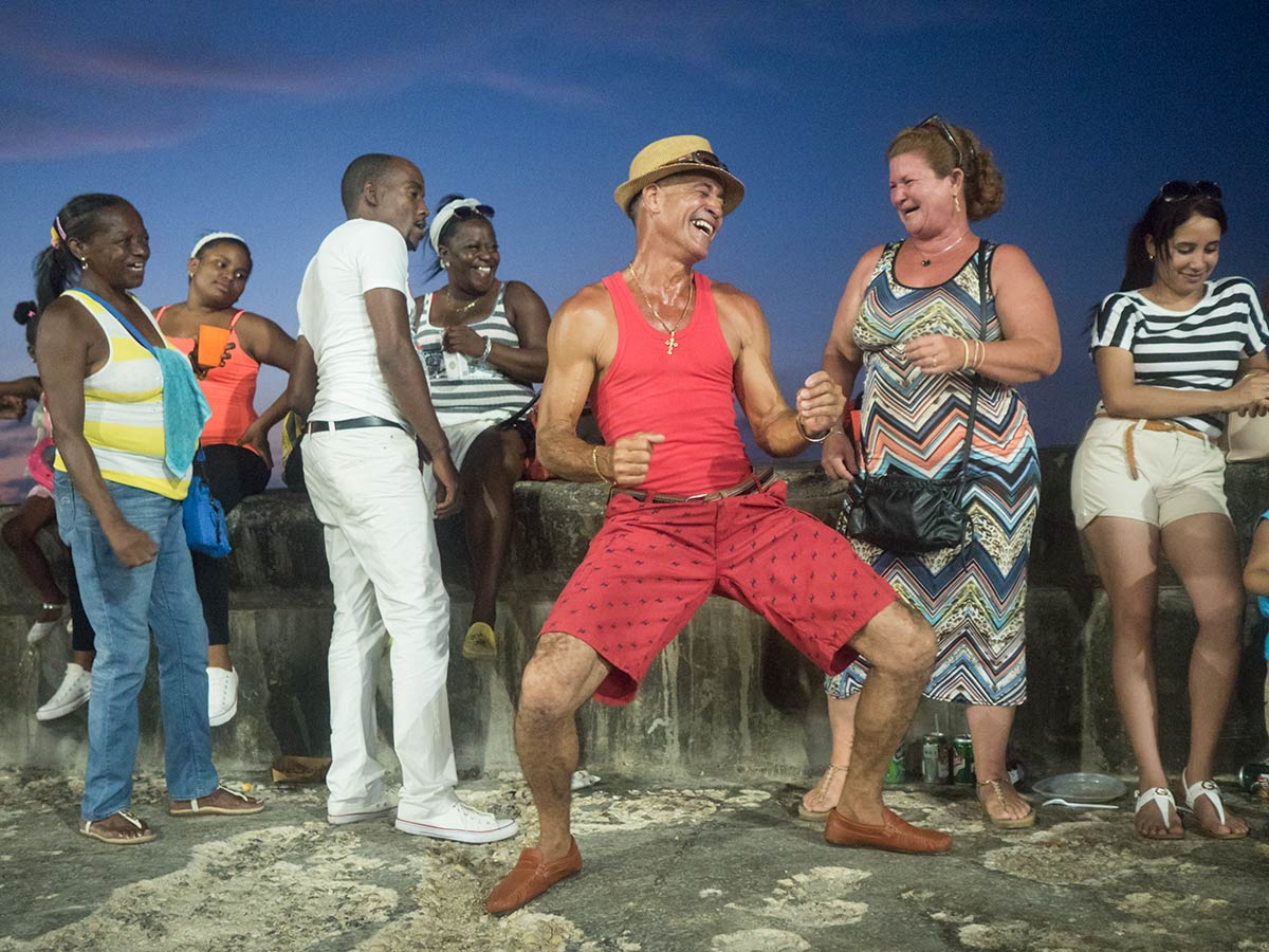 Carnivals in havana , cubans having fun