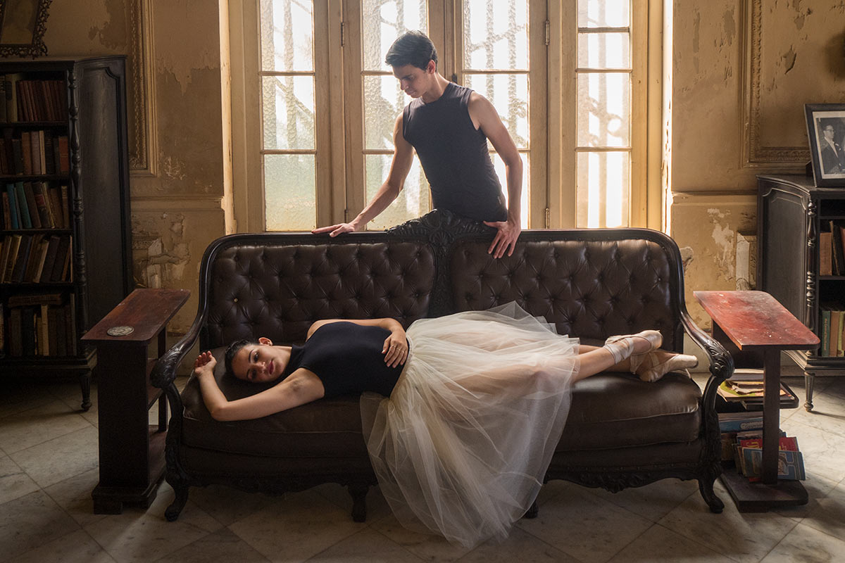 ballet dancers in havana colonial house, by louis alarcon teacher of photography in havana