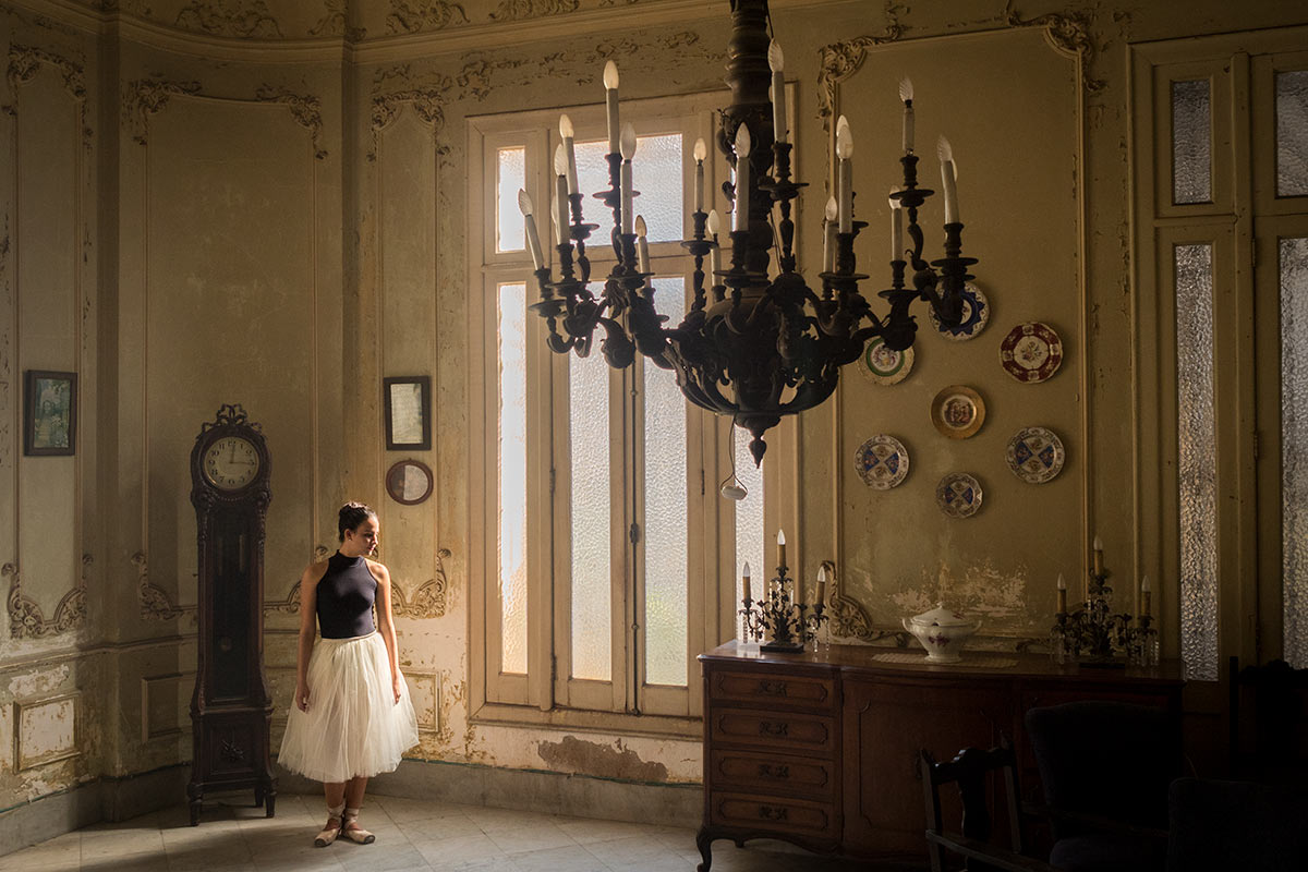 ballerina in a spectacular house in havana by louis alarcon