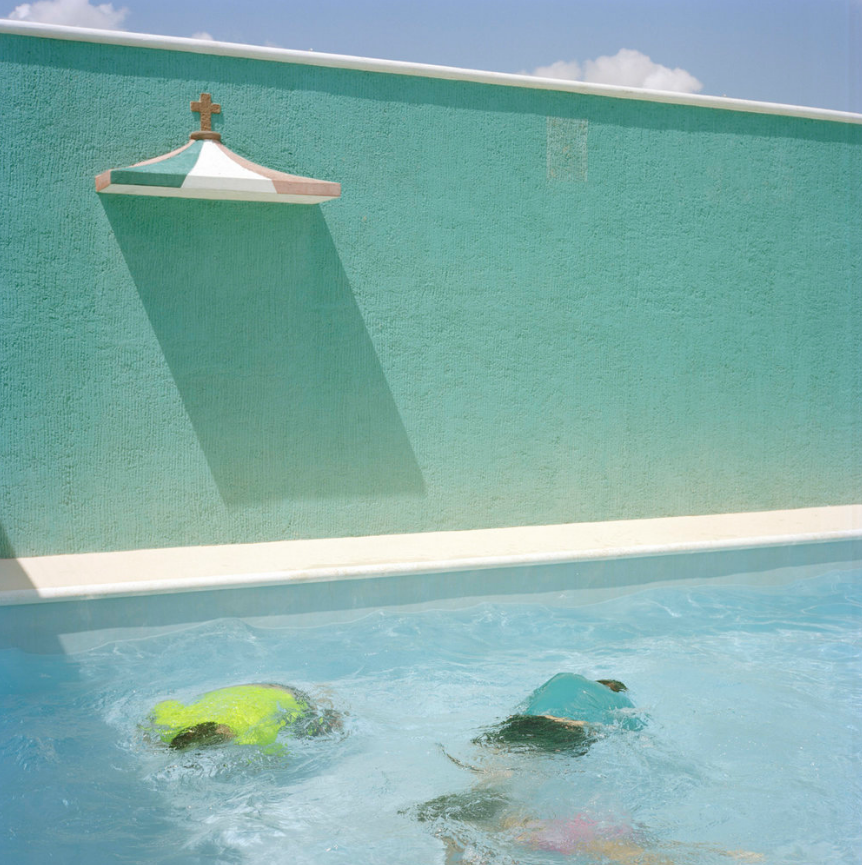 two people in a swiming pool in cuba