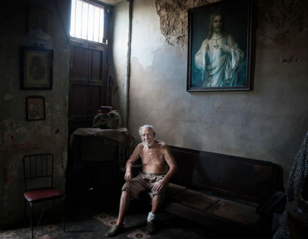 old man in an old cuban house a cuban picture by David Creedon