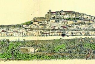 Un grabado de Vila y su bahía de 1891, realizado a partir de una fotografía de León Gravi